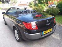 Renault Megane 1.6 VVT Dynamique Convertible, 10 Months mot, Hpi clear, Cheap petrol,Tax