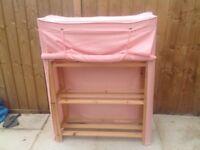For sale girls wooden wardrobe canvas