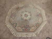 Octagon Shaped Rug with Tassels