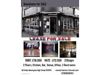 Cafe- Restaurant Lease For Sale- Stoke Newington High Street