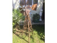 LARGE WORKING ALUMINUM GARDEN WINDMILL FROM THE USA - NEW NEVER USED