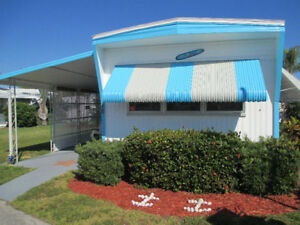 VERO BEACH,FLORIDA,MOBILE HOME FOR SALE-1 BDR-NO PET PARK