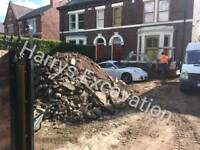 Mini digger hire Harrys excavation foundations,electric,gas,water,woodchipper