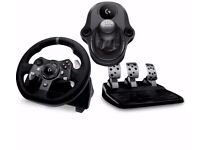 Logitech Driving Force G920 Racing Wheel, Pedals & GEARSTICK for Xbox One PC
