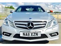 MERCEDES-BENZ E CLASS 2.1 E220 CDI BLUEEFFICIENCY SPORT 2d AUTO 170 BHP (silver) 2011