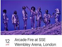 Arcade Fire Tickets x 2 seated