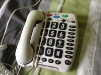 Geermac White large number phone specially for the hard of hearing