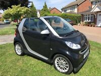2010 SMART FOR TWO PASSION MHD CONVERTIBLE AUTO BLACK WITH CONTRASTING CLOTH INTERIOR FULL SERVICE