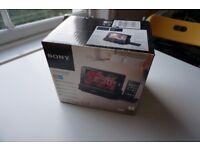 "SONY DREAM MACHINE ICFCL75IP IPOD AM/FM CLOCK RADIO 7"" LCD SCREEN"