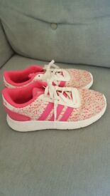 Girls Adidas trainers size 12.5