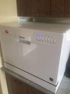 Counter top Danby portable dishwasher