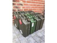 Solid Metal Jerry Can 20L Jet Washed Clean Joblot & Single Rrp £20