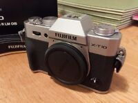 Fuji XT10 Camera - Body only. Excellent Condition