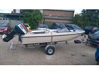 fletcher arrowflyte speedboat and outboard
