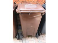 Brown recycle waste wheelie bin large