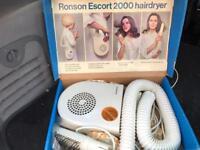 Vintage Ronson Hairdryer Escort 2000