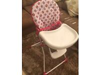 Minnie Mouse high chair