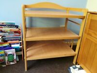Baby's wooden changing table unit