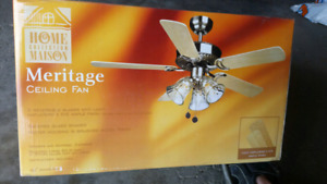 Two new ceiling fans with lights