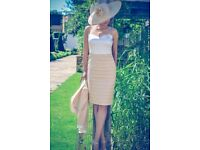 Luis Civit dress and jacket with hat