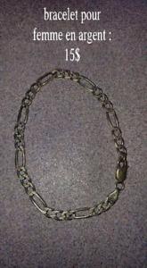 Bracelet pour femme en argent