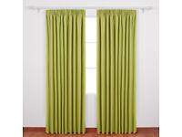 "Deconovo Solid Super Soft Blackout Curtains 66"" x 90"" Orange One Pair"