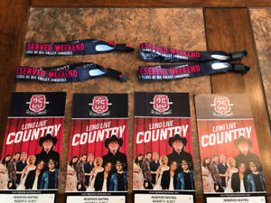 BVJ 4 Big Valley Jamboree 3 Day Reserved Seats with Camping