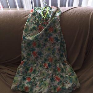 Green Hawaiian Halter Dress