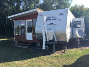 camper for sale at lake of the prairies