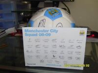 Lot 27 - Man City Signed Football from club 2008 - 2009