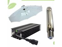 Hydroponics Parabolic 1m 100cm Lumii Black HPS Dimmable Digital Light Kit UK