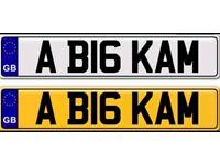 BIG LAMPS KAMRAN KAMALJIT KAMAR KUMAR a private number plate for sale