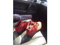 Red Air Jordan Mid
