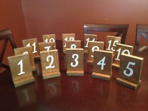 Table Numbers - Wood / Hand Painted