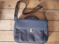 Mandarina Duck Design Blue Leather Satchel Unisex - Bought for £250