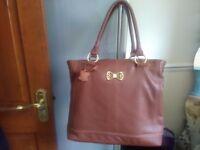 Brand new tan leather designer shoulder bag for sale