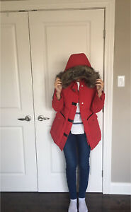 Red Laura Winter Jacket For Sale!!