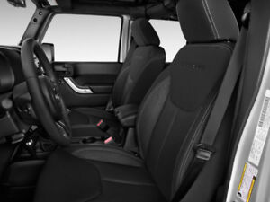 Cloth Interior plus Leather seat covers for 2016 Jeep Wrangler