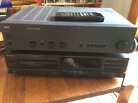 Nad amplifier & Technics CD with remote