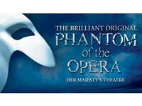 Phantom of the opera, Saturday 19th Aug 19.30