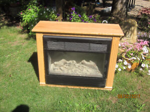Amish-Made Electric Fireplace