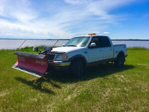 2002 Ford F-150 supercrew with BOSS plow