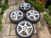 VW AUDI 17'' ALLOY WHEELS AND TYRES