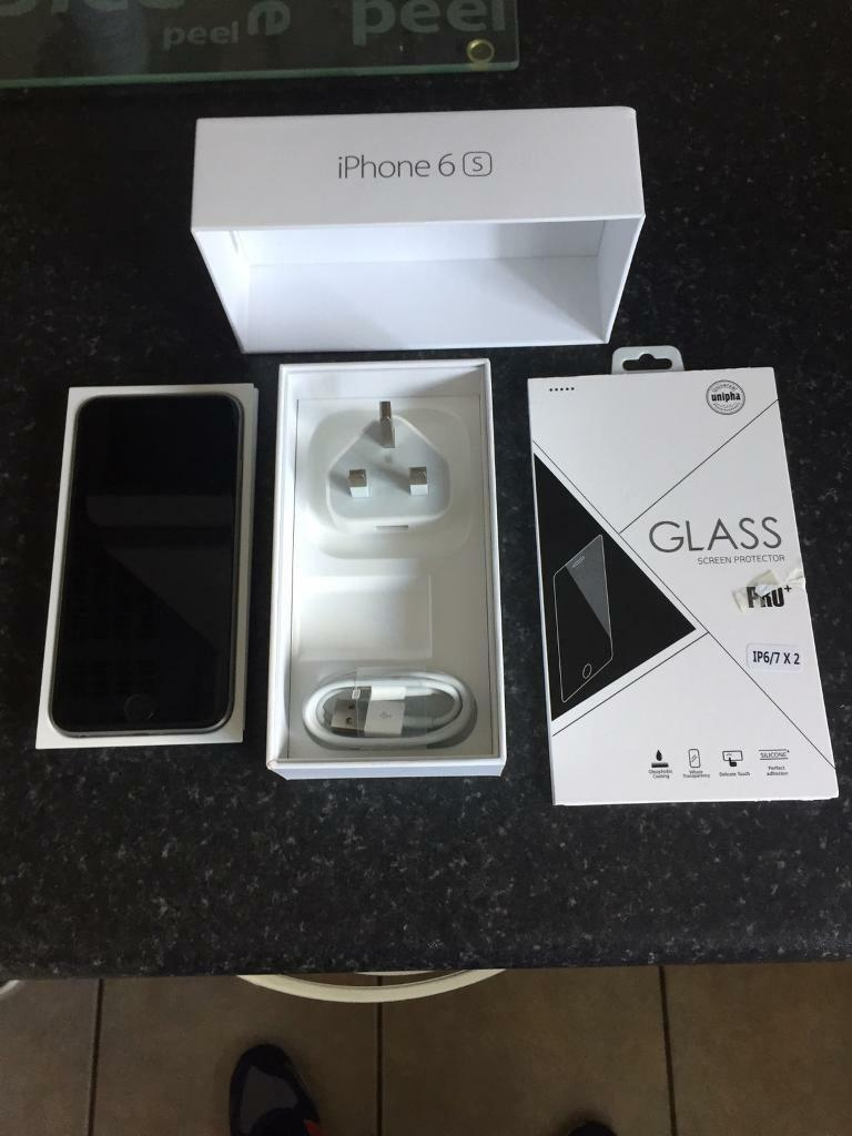 Apple iPhone 6s space gray 16gb unlocked in as new conditionin Newtownabbey, County AntrimGumtree - Apple iPhone 6s space gray 16gb unlocked in as new condition this comes with original box sim pin genuine apple charging lead and plug I have also added a new tempered glass screen protector thanks for looking