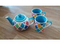 Whittards Tea Pot and Mugs
