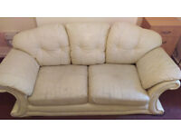 Free Cream Leather Couch