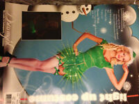 Naughty little Elf fancy dress outfit with light up skirt Size M 8/10 will post out