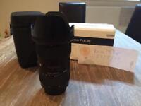 Sigma 18-35 f1.8 art lens. Canon mount