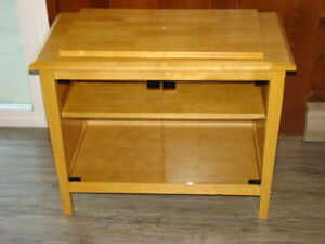 Natural Birch Solid Wood TV Stand
