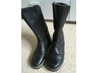 Frank Thomas Ladies Leather motorbike boots size 4